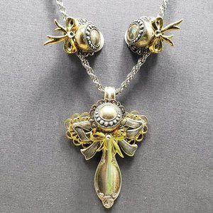 Upcycled vintage spoon necklace #2 clip on